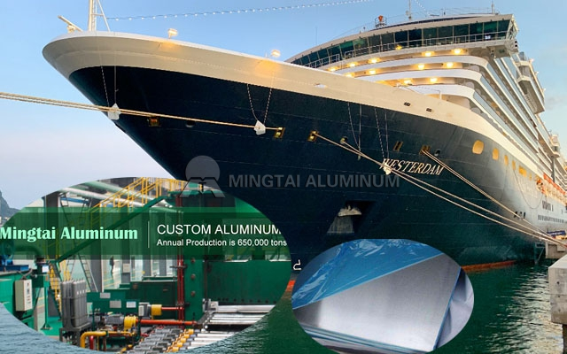 Mingtai Marine Aluminum Sheet Suppliers with BV/LR/DNV/ABS/CCS Class Certificate