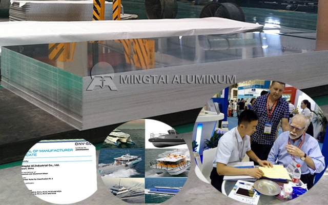 South American Market- Mingtai 383 tons of 5086 Marine Grade Aluminum Sheet